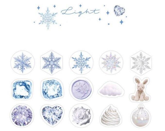 Winter Sparkle Light Stickers