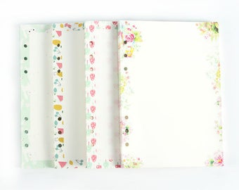Refill Pages, Journal, 6 Ring Binder, Lined Paper, Size A6 & A5, Pre-Punched