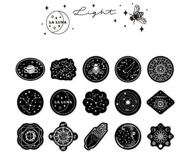 La Luna Sparkle Light Stickers