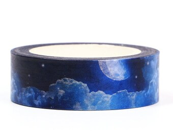 Blue Moon Washi Tape, 15mm