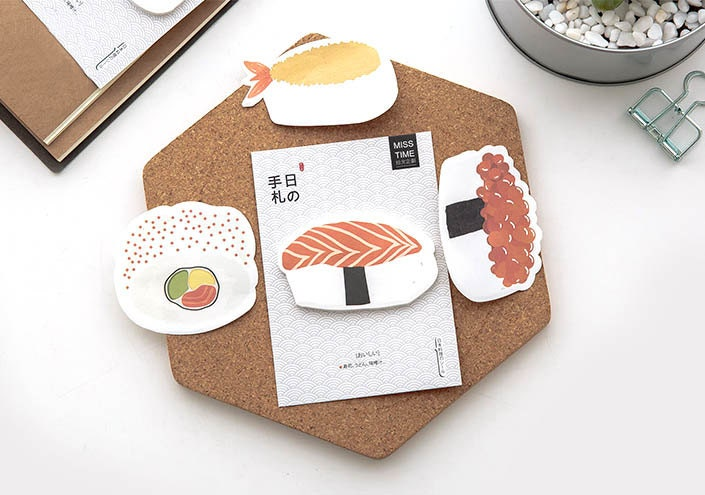 Sushi Sticky Notes Set Of 4 Post It Food Stationary Office School Supplies Ordering app to expedite the process; mopapo
