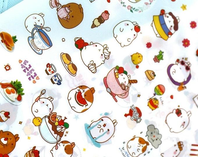 Molang Rabbit Stickers: Version 3