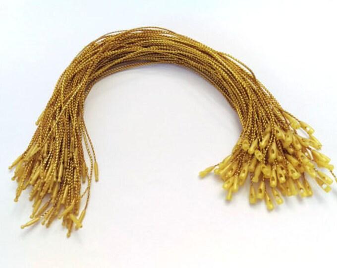 Gold Hang Tag String: 100 Bundle
