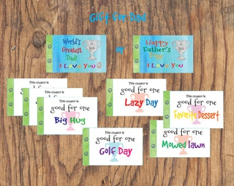 Dad Coupon Book Etsy