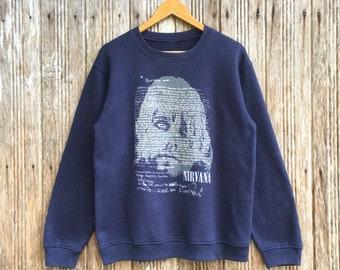 76b9a4a25 Bootleg Nirvana Band Sweatshirts Suicide Unisex medium size