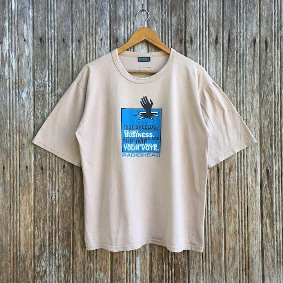 Vintage RADIOHEAD Band Rock T-shirt 90s Unisex Med