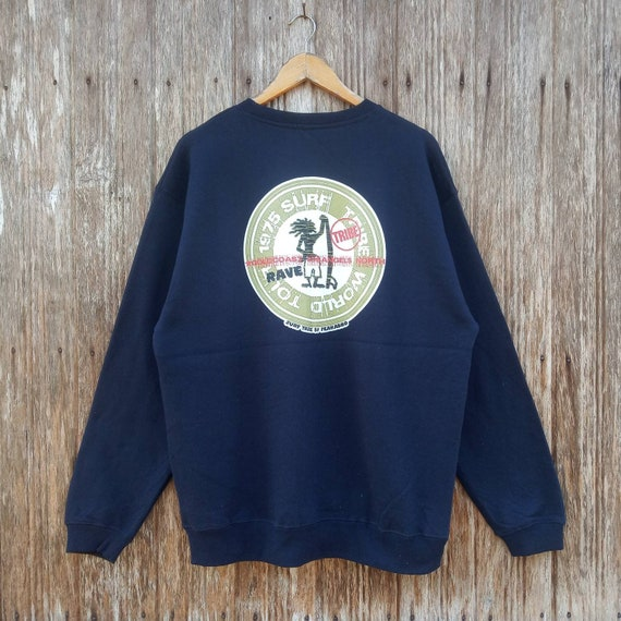 Rare! PEAKABOO Surf Surfing Style Full Zipper Sweater Jacket Double Pocket Large size