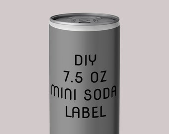 diy soda can label template and mock up psd etsy