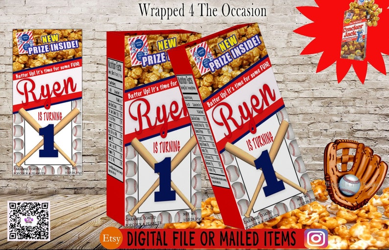 Any theme Caramel Corn Box Label