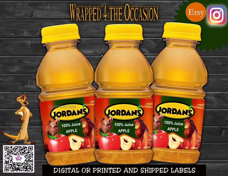Lion Apple Juice Labels