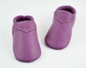 Baby Moccasins Light Purple Lilac Lokicks Newborn Boys Girls Toddlers Kids Genuine Leather Moccs Handmade Shoes Gift Prewalker Loafers
