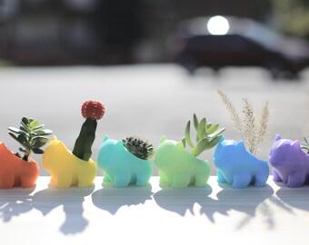 3D Printed Planter /Cute /Best Gift /Pokemon /Pocket Animal /Succulent /Pikachu /Bulbasaur /Cartoon Accessories /Christmas Gift