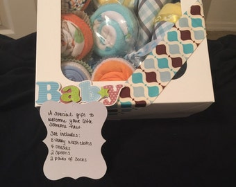 Boxed Baby Boy Gift Set