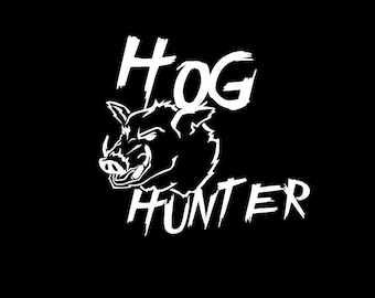 HOG HUNTER vinyl sticker decal