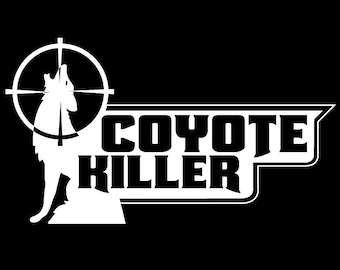 Coyote Killer Vinyl Decal Sticker