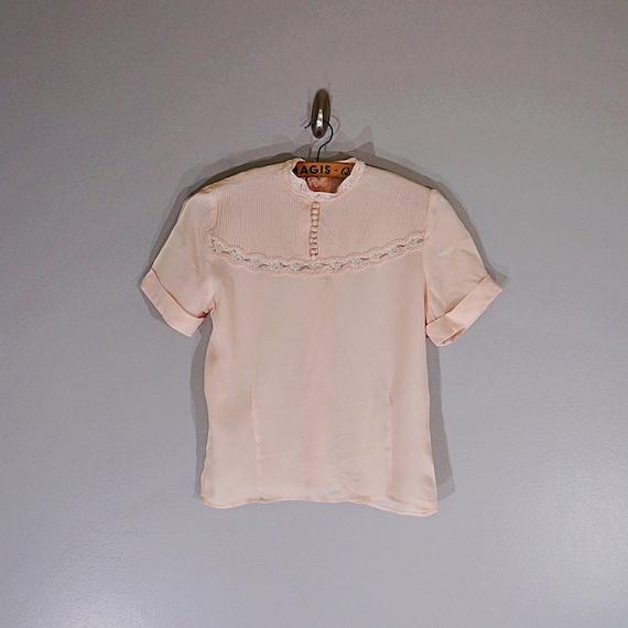 Vintage 40's MORLOVE The Couturier blush lace fit… - image 2
