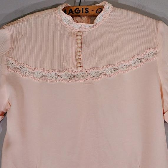 Vintage 40's MORLOVE The Couturier blush lace fit… - image 4