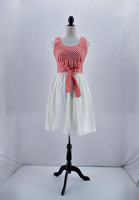 Vintage 50s 60s  Candi Jones California red and wh