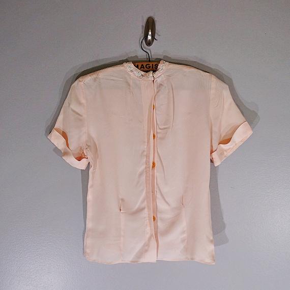 Vintage 40's MORLOVE The Couturier blush lace fit… - image 7