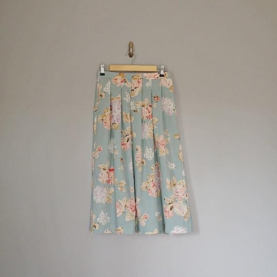 Vintage skirt 80 /'s TAN JAY pastel floral size 40-UK 12-US 8