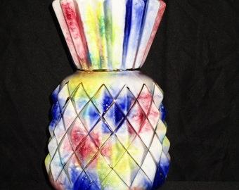 Vintage Multi-Colored Pineapple Vase
