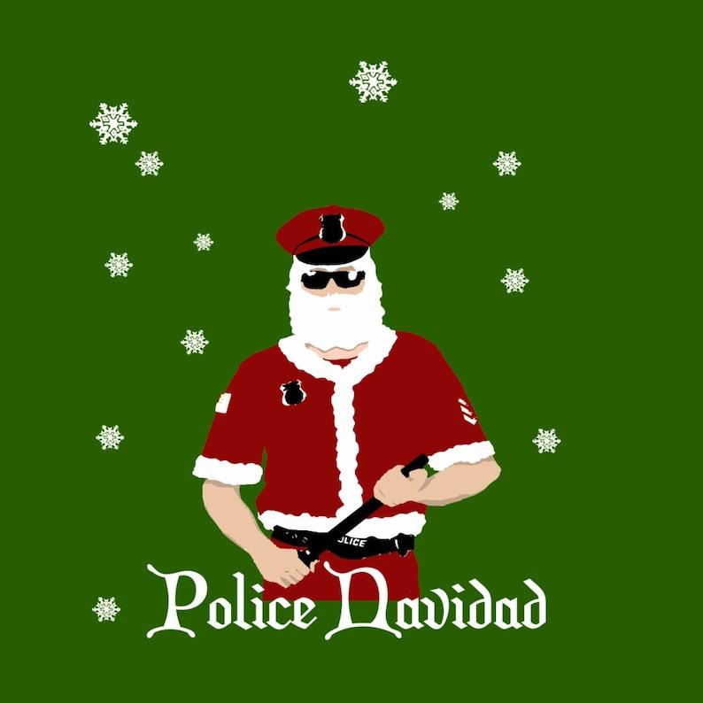 Greeting Card  Police Navidad image 0