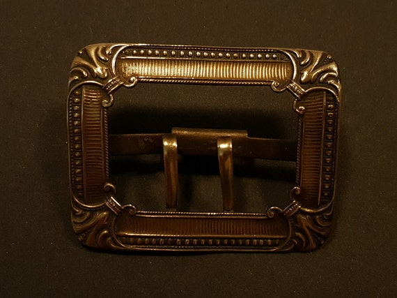 Gift Beautiful Craftsmanship Antique French Brass Belt Buckle from Early 20th Century