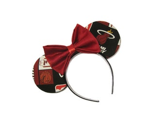 Miami Heat Inspired Mouse Ears