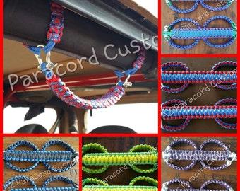 Custom Jeep Paracord Roll Bar Grab Handles - You choose the colors!