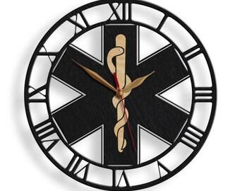 star clock etsy Iraq Weather star of life clock big wood large 12 16 18inch ambulances paramedics symbol logo emergency medical service emblem doctor 180 nop p05 dm