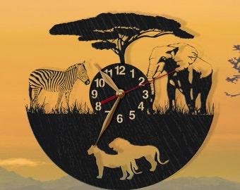 Animal Wall Clock Etsy