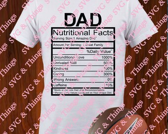Nutritional Fact Svg Etsy