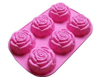 Large Rose Flower Silicone DIY Mold to make Soap Candle Chocolate Candy Tray Mold ICE Party maker  mould