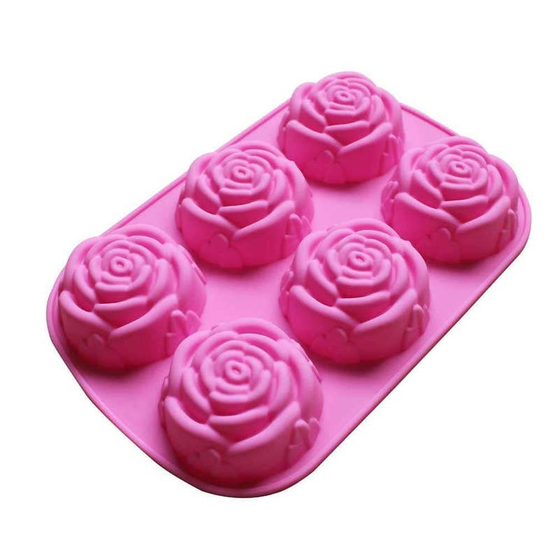 Large Rose Flower Silicone DIY Mold to make Soap Candle image 0