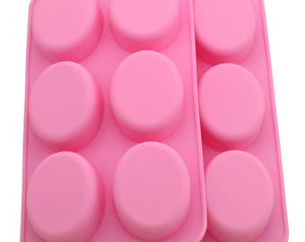 Soap Oval Shape Silicone Mold Chocolate Ice Cube Tray Muffin Molds DIY SOAP Mould Jello Candy