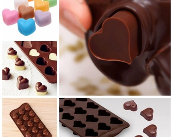Heart with Dimple Silicone DIY Mold to make Soap Candle Chocolate Candy Tray Mold ICE Party maker  mould
