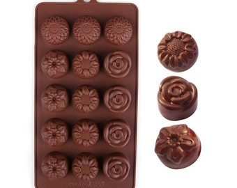 Sunflower Rose flower  Silicone DIY Mold to make Soap Candle Chocolate Candy Tray Mold ICE Party maker  mould