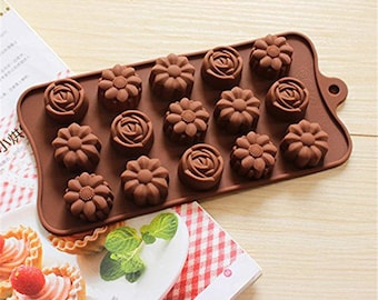 Rose & Camellia  Silicone DIY Mold to make Soap Candle Chocolate Candy Tray Mold ICE Party maker mould
