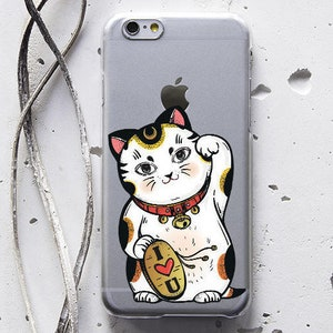 Cat iPhone XS Max XR Case iPhone 8 Plus Case iPhone 7 Case iPhone 6 Plus Case Clear iPhone 6s Plus Case for Samsung Galaxy S9 Phone X WC1123