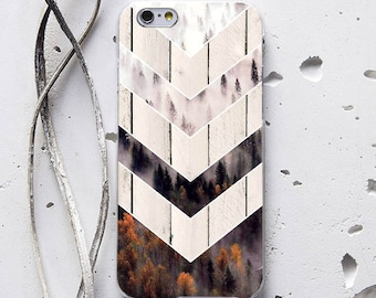 Geometry Forest Case iPhone 6 Case Wood iPhone SE Case iPhone 6 Plus iPhone X Case iPhone 6s Case Galaxy S6 Case iPhone 8 Plus Case WC1267