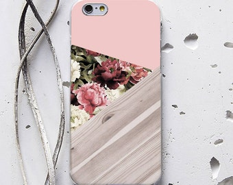 Geometry Floral Case iPhone 6 Case Wood iPhone SE Case iPhone 6 Plus iPhone X Case iPhone 6s Case Galaxy S6 Case iPhone 8 Plus case WC1184