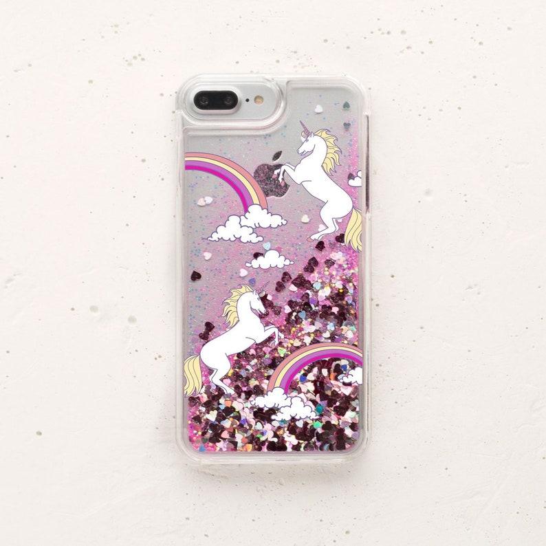 cheap for discount 11901 10bb4 Liquid Glitter IPhone Case Moving Glitter Rainbow IPhone X Unicorns IPhone  7 Case Glitter IPhone Case iPhone 8 Case IPhone 6 Case WC1404