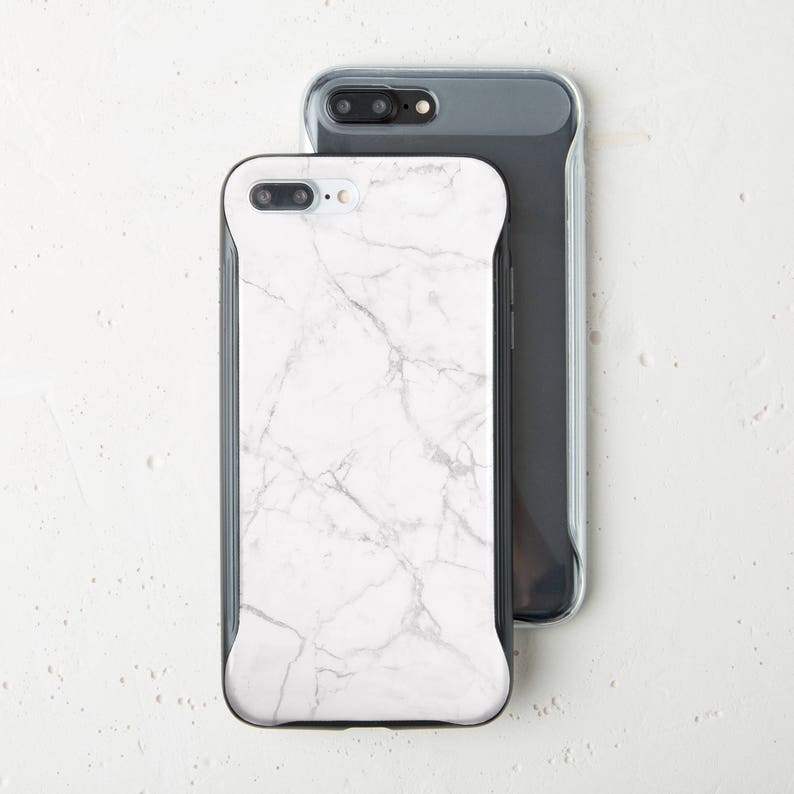 White Marble iPhone 7 Plus Case Phone Bumper Case iPhone Case iPhone 6 Case  iPhone 8 Plus Case Bumper iPhone X Case Marble iPhone 6s WC1549