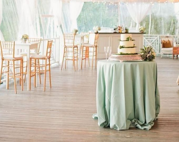 Mint green tablecloth, table cloth, table runners, wedding decor, mint green, ceremony, polyester, SALE, table overlay