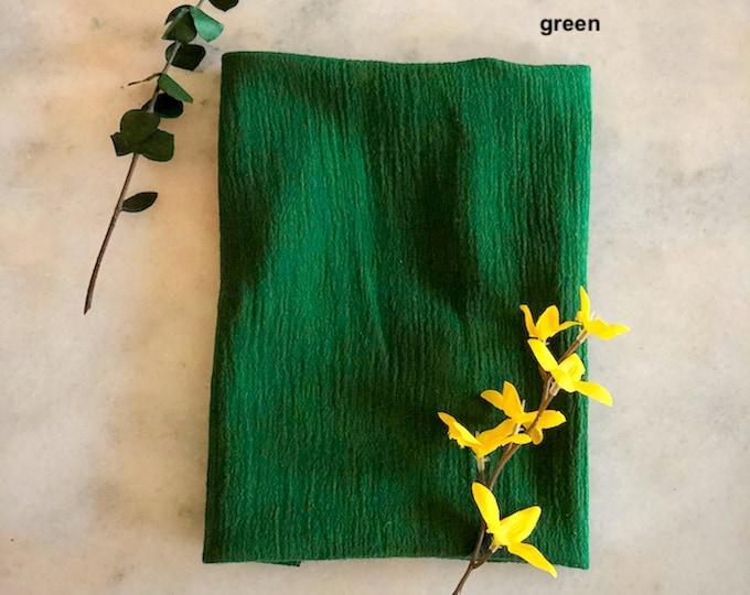 Gauze napkins, greenery wedding decorations, greenery wedding decor, greenery baby shower, greenery bridal shower, greenery decor, napkins