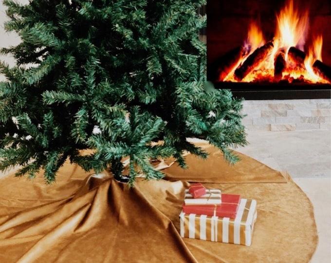 Christmas tree skirt, tree skirt, red velvet tree skirt, red velvet, Christmas decor, home decor, holiday, red tree skirt, Christmas, xmas