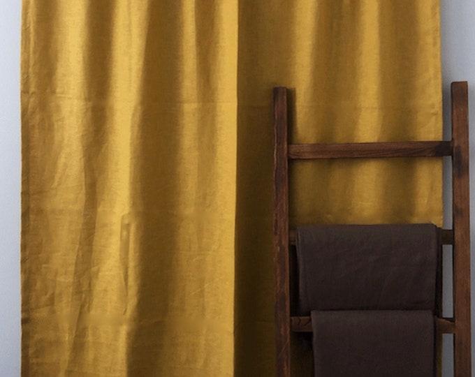 Linen Curtains, Custom Window Drapes, White Curtain, Grommets, Living Room Decor, Drapery, Bedroom, Home, Modern Home, Linen Panels, Mustard