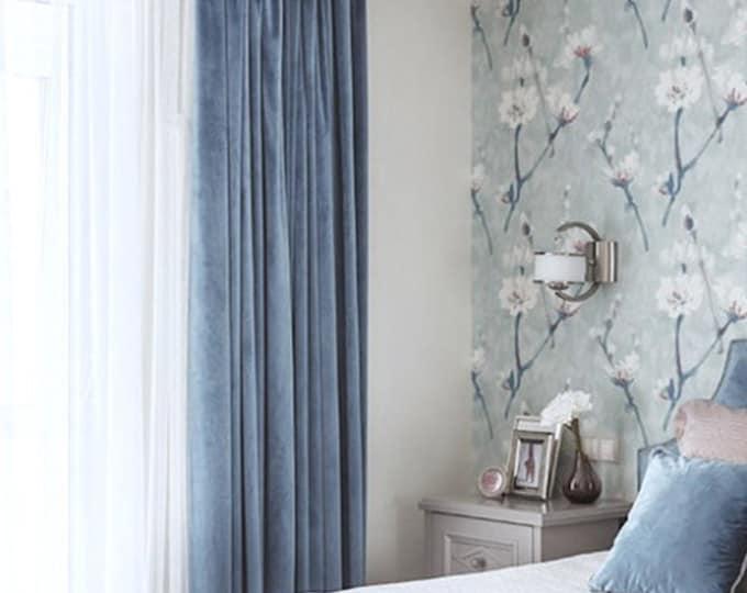Velvet Curtain, Living Room Drapery, Pleated Panels, Blackout Curtains, Drapes, Luxury Curtains, Bedroom Curtain, Room Darkening, Custom
