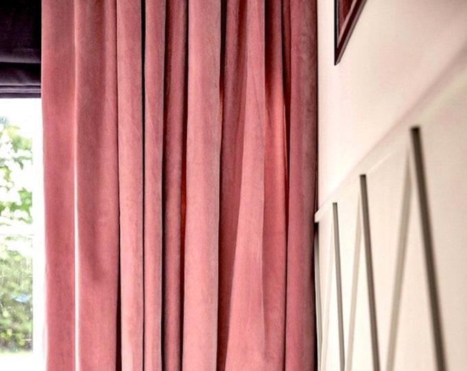 Velvet Curtains, Custom Window Curtain Panels, Curtain Panel, Nursery Curtains, Dining Room Curtains, Bedroom Curtain, Nursery Curtains Girl