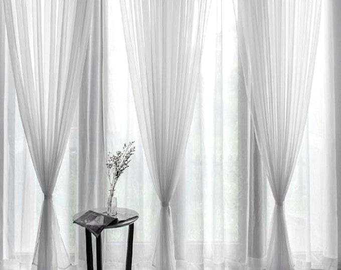Voile Curtains, Custom Window Curtain Panels, Curtain Panels, Sheer Curtains, Dining Room Curtains, Bedroom Curtains, See Through Curtains